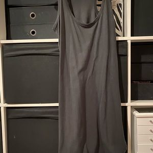 Mum black dress with a split front and back